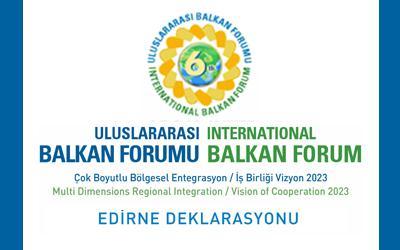 6. Uluslararası Balkan Forumu